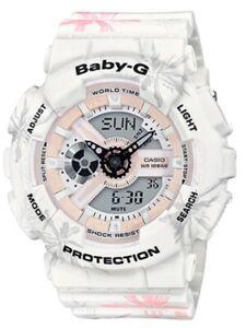 Casio-Baby-G-BA110CF-7A-Anadigi-Summer-Flower-Pattern-White-Watch-COD-PayPal