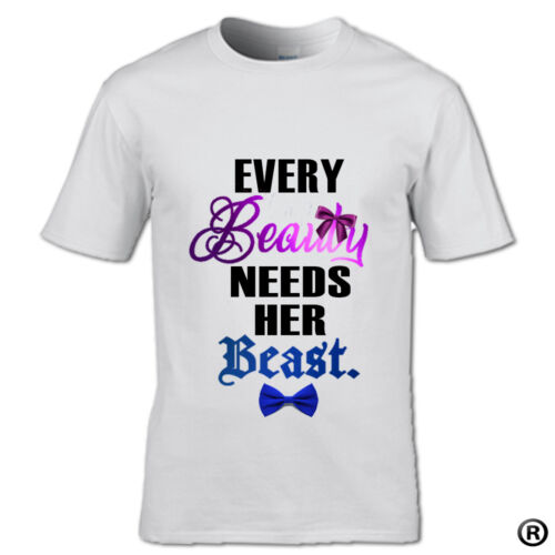 EVERY BEAUTY AND EVERY BEAST T-SHIRT SET PARTNERS COUPLE HIS /& HER WEDDING GIFT
