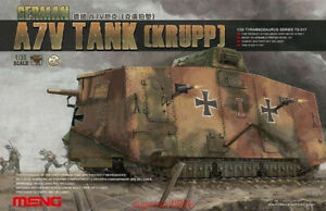 Meng-Model-1-35-TS-017-German-A7V-Tank-Krupp-Rare-Hot