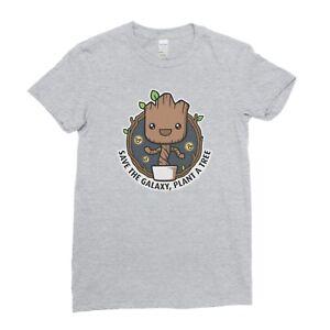 Baby-Groot-Save-the-Galaxy-Guardians-Nature-Geek-Nerd-Womens-T-shirt-Tee-Top
