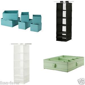 ikea skubb storage box basket for wardrobe drawer shoes various colours sizes ebay. Black Bedroom Furniture Sets. Home Design Ideas