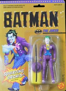 1989 Toy Biz Vintage The Joker Action Figure W Squirting Orchid