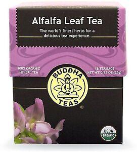 Alfalfa Leaf Tea - Organic Herbs - 18 Bleach Tea Bags