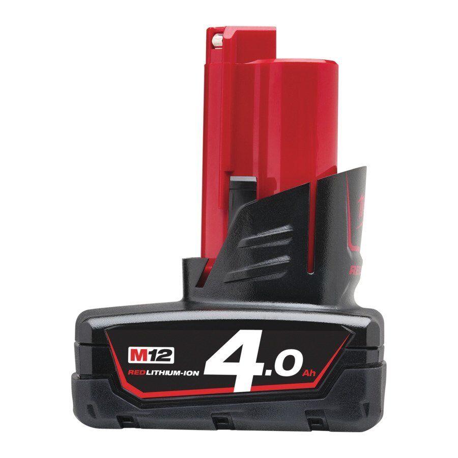 Milwaukee M12B4 Akku 12 Volt   4,0Ah rot Lithium Ion Akku 12V Li-Ion 4932430065