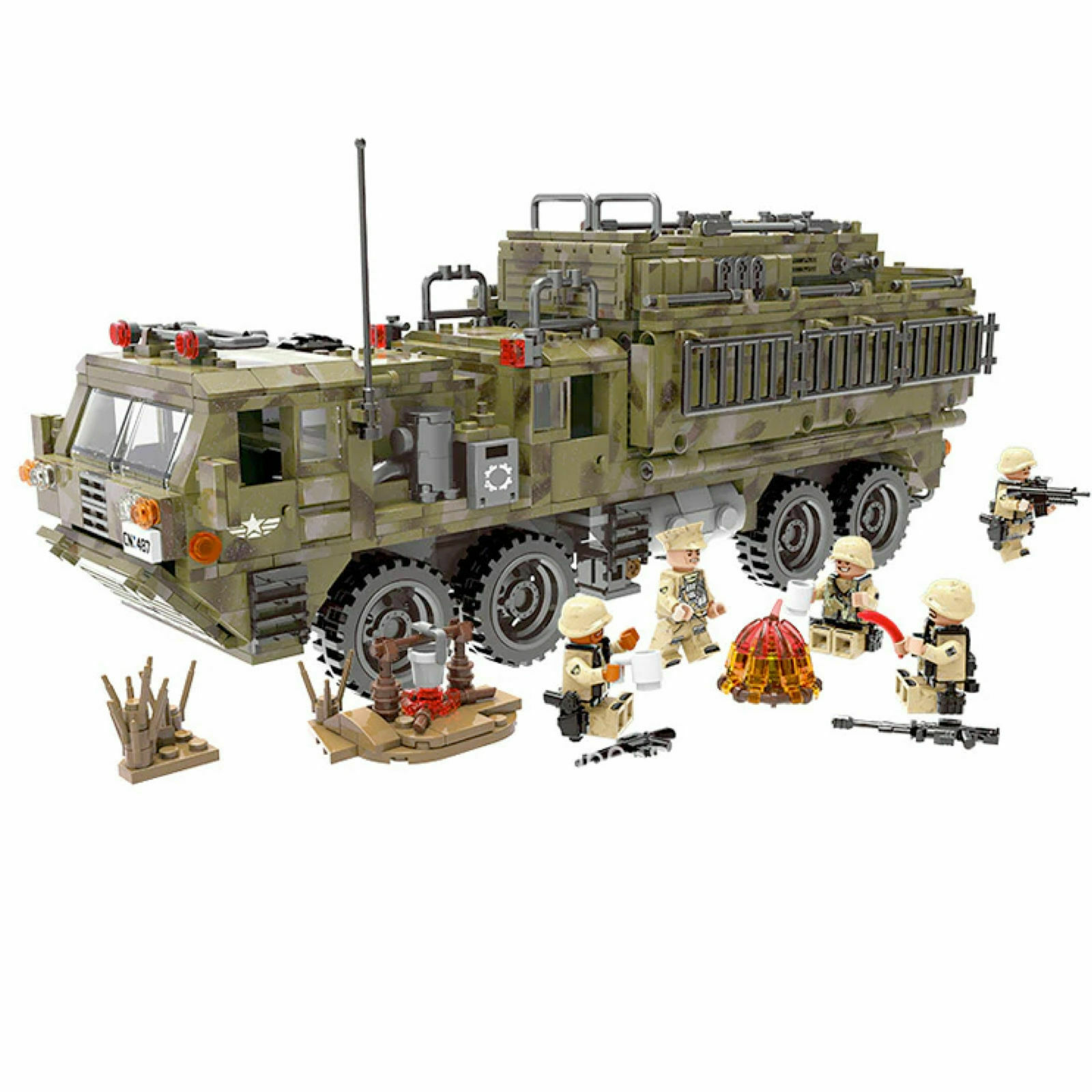 WW2 Serie Militare Camion blindato Marines Usa LEGO TECHNIC Compatibile 1377 pc