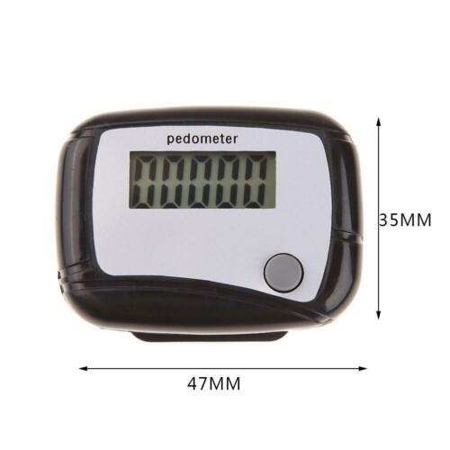 LCD Digital Step Pedometer Walking Calorie Counter Distance Run Belt Clip