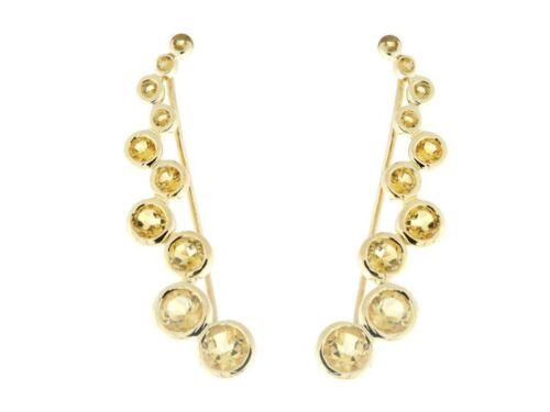 "1.5/"" Ear Climber Earrings over sterling Silver Multiple colors Gemstone"