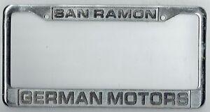 San Ramon California German Motors Porsche Repair Vw