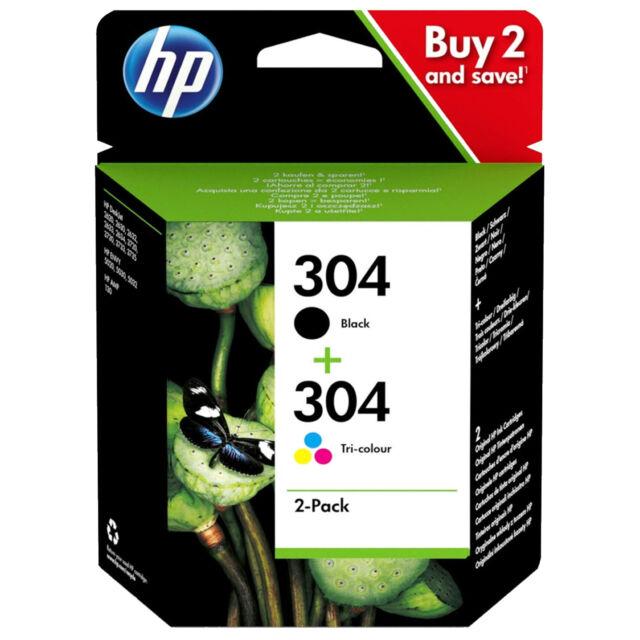 HP 304 Combo Black & Colour Ink Cartridge Original for Deskjet 3720 3730 +