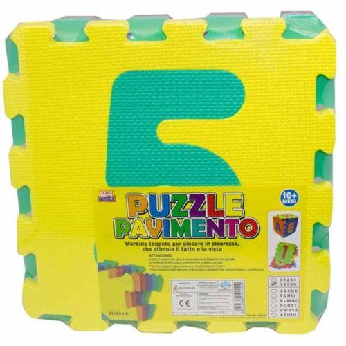 Tappeto Puzzle Bambini Morbido Pavimento 5 Mattonelle 32x32 cm Quadrati e Numeri