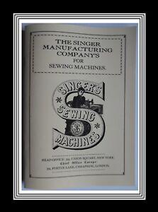 SINGER 12K (Family) & 13K (Medium) Sewing Machine Manual (32 Page Double Manual)
