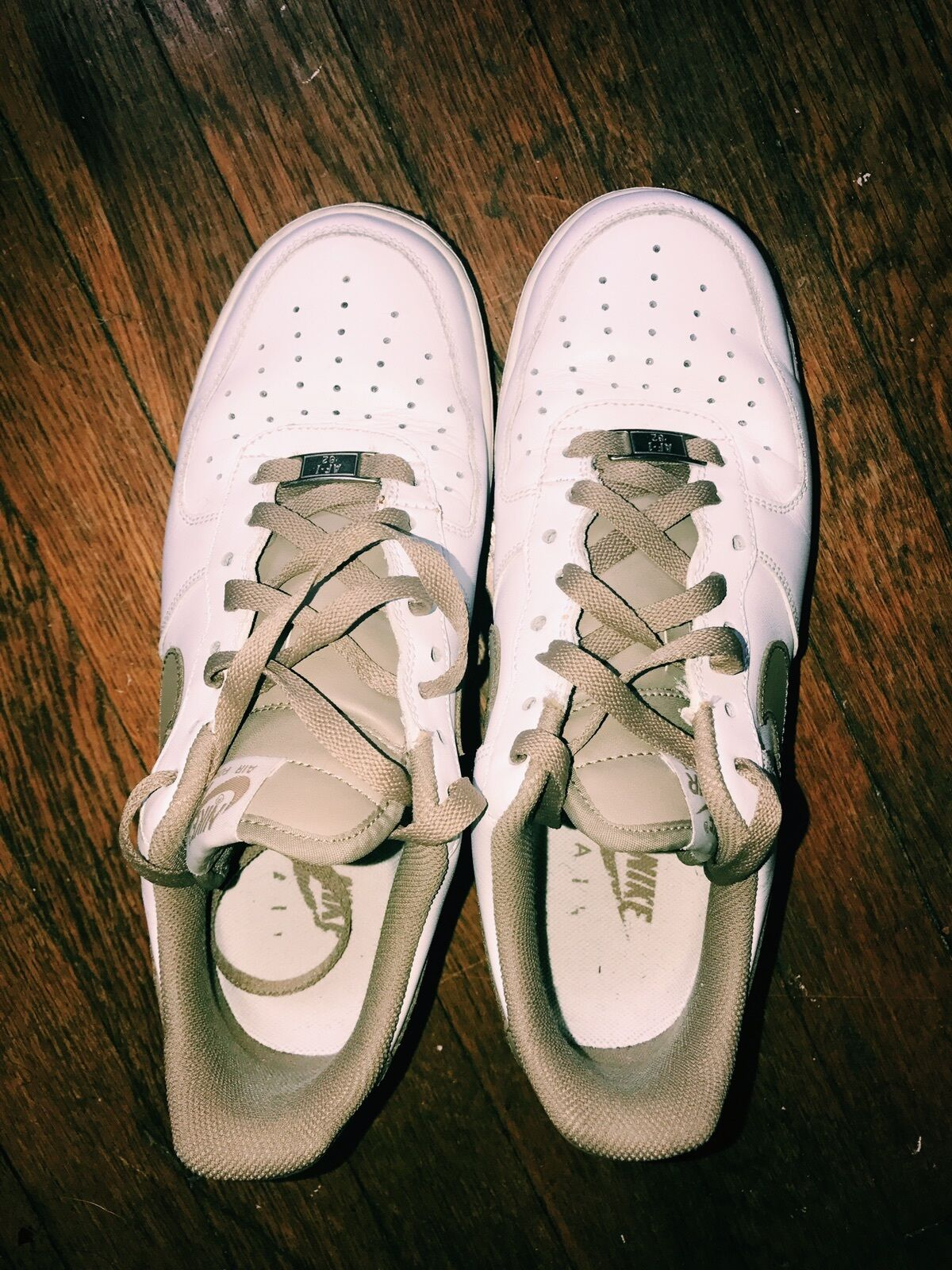 Nikes Olive Air Force 1s MENS 8