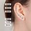 ZeeWomen genuine 925 Solid Sterling Silver earrings  cubic zircon round