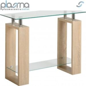 Valufurniture-Naples-Oak-Effect-Console-Table-Sonoma-Oak-Effect-Veneer