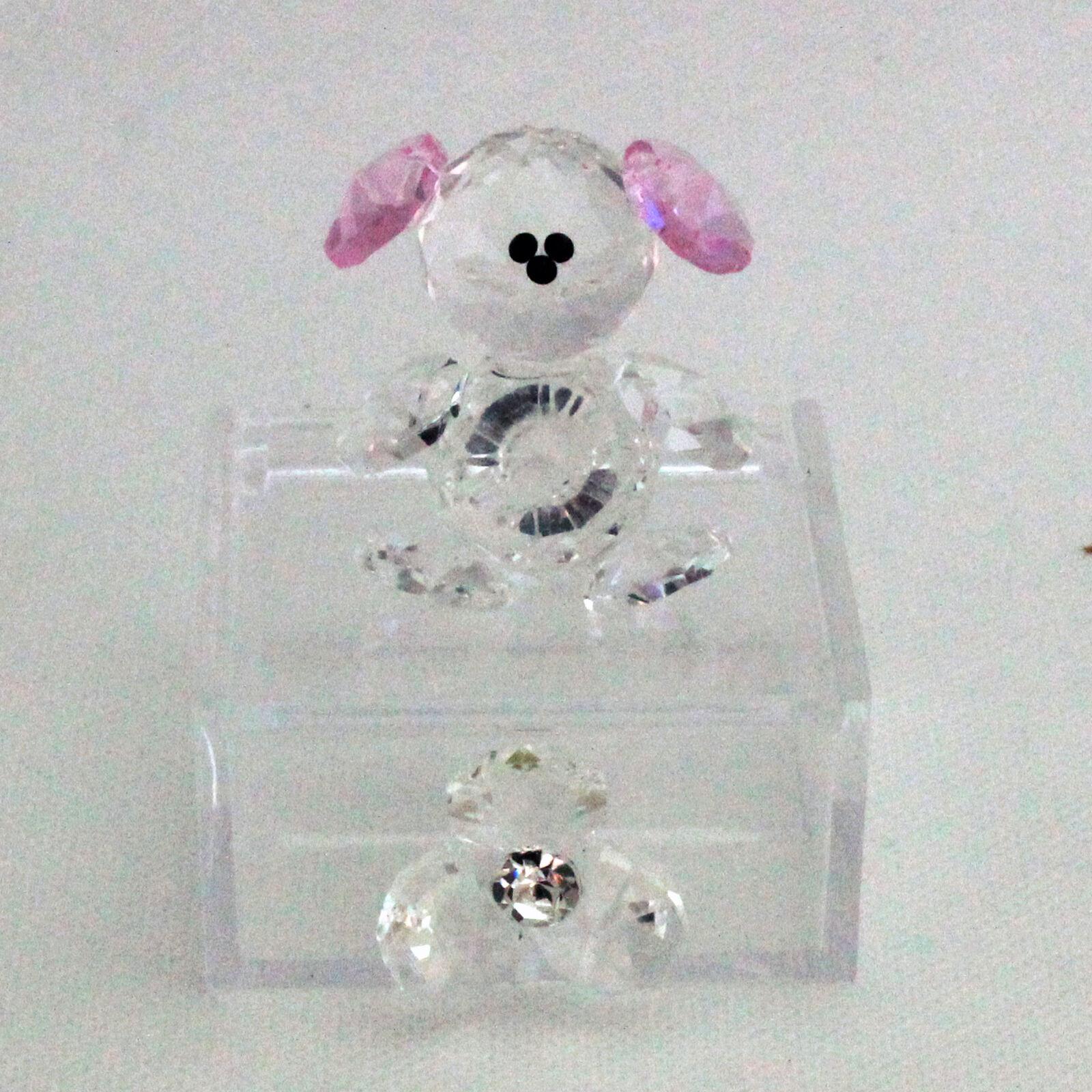 DLM25761 Scatoline in plexiglas con Orsetto Orsetto Orsetto e Fiore in cristallo rosa (kit 6 pez 3ae699