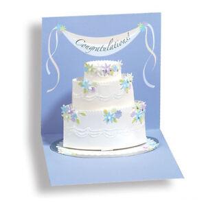 Image Is Loading Wedding Cake Pop Up Card Greeting