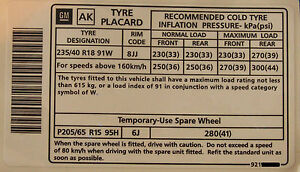 Holden-Commodore-18-034-Tyre-Placard-Label-Decal-VY-VZ-SS-VT-VX-VS-VR-LS1-LS2-WH-VU