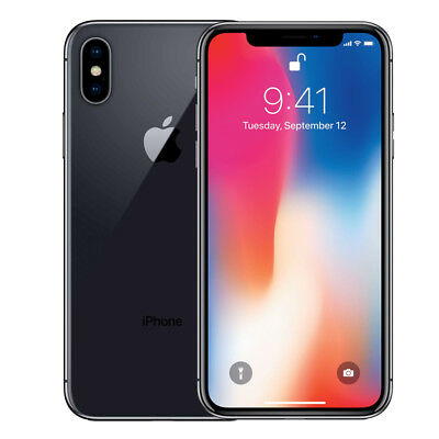 Apple iPhone X - 64GB - AT&T - T-Mobile - GSM Unlocked Smartphone