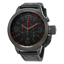TW Steel Canteen Black Dial Black Leather Mens Watch TW903R