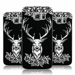 FLORAL-PATTERN-STAG-SKULL-PRINT-CASE-COVER-FOR-SAMSUNG-GALAXY-MOBILE-PHONES
