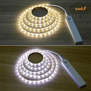Battery-Powered-LED-Strip-Light-Wireless-PIR-Motion-Sensor-Wardrobe-Cabinet-Lamp
