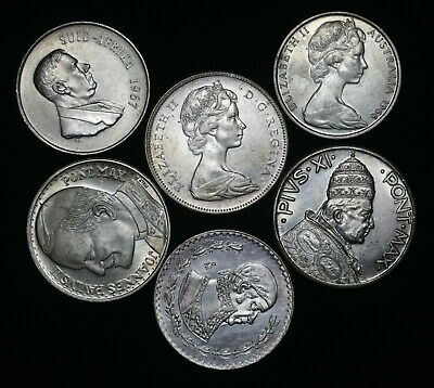 World Coin Collection Lot Of 6 Silver Coins Dates Countries Auction From 1 Ebay