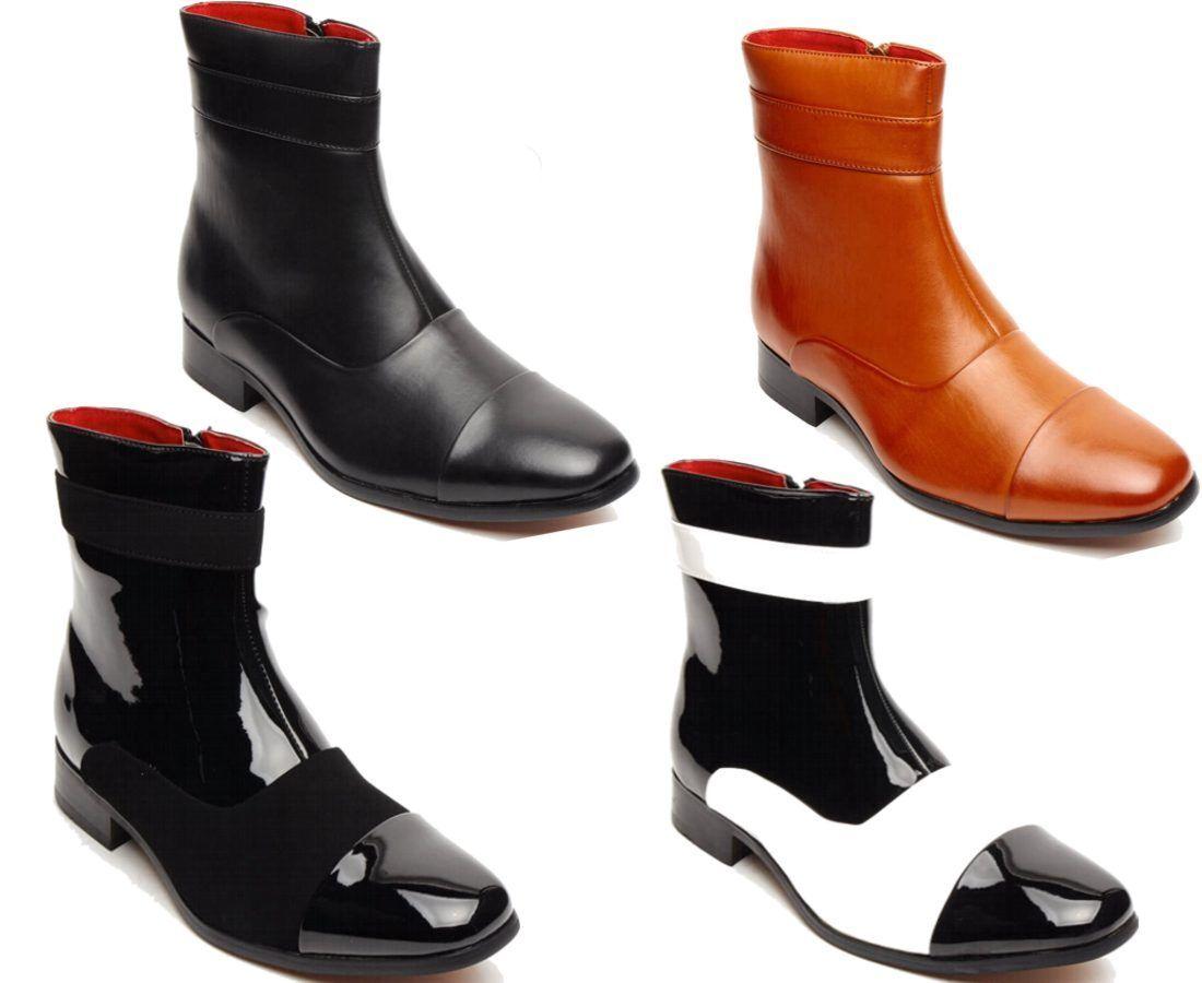 Men Western Cowboy, Military, Christmas, Biker Leather Winter Boots (Jackson)