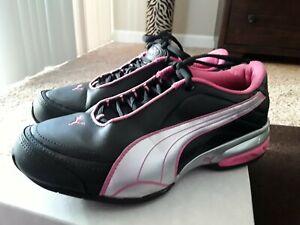 godere del prezzo di liquidazione design elegante molte scelte di LADIES PUMA Black/Silver/Pink Sneakers Size 9M   eBay