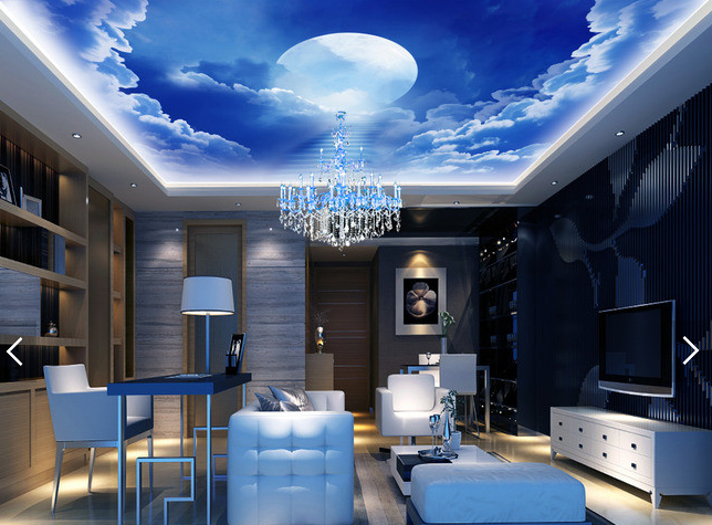 3D Moon Clouds Stairs 789 Wall Paper Wall Print Decal Wall Deco AJ WALLPAPER