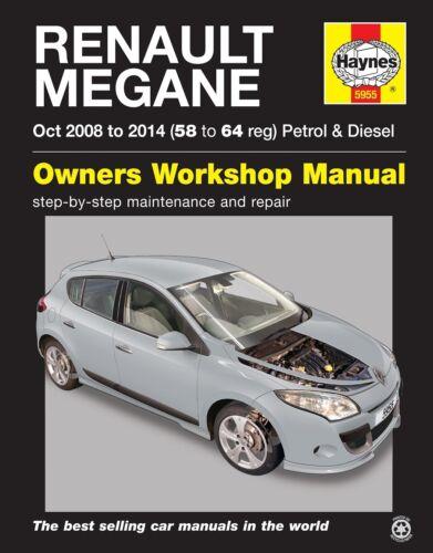 Renault Megane Petrol /& Diesel Oct 2008-2014 Haynes Manual 5955 NEW
