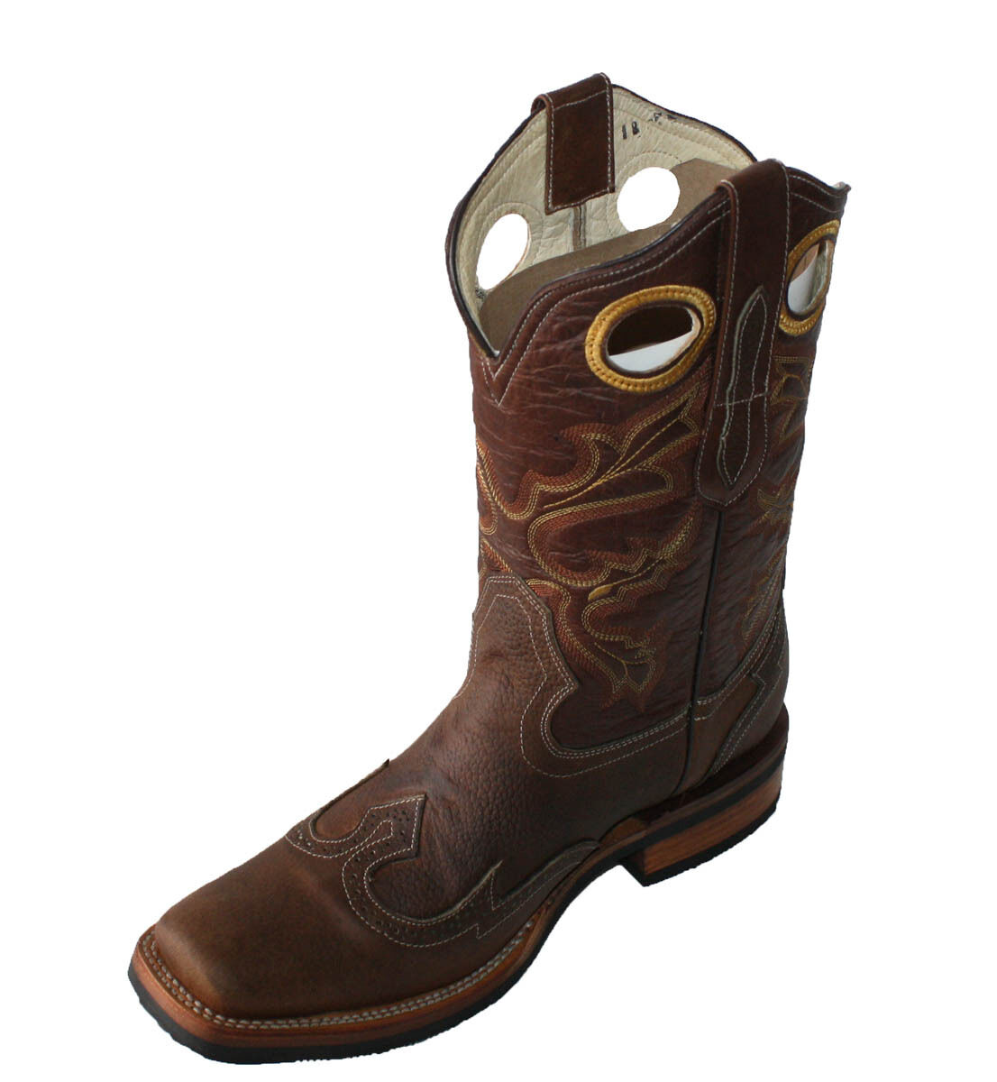vendita online uomo WORK stivali RODEO LEATHER COWBOY COWBOY COWBOY WESTERN BIKER stivali LIGHT Marrone StyleCB101  il prezzo più basso