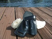 Small Of The Back Sob Concealed Carry Black Leather Holster Glock 19 23 32 Owb