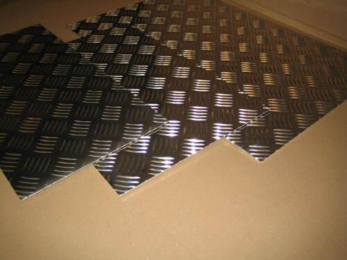 3mm Aluminium Tread // Chequer Plate 5 Bar 1.5mm 6mm Various Sizes 4.5mm 2mm