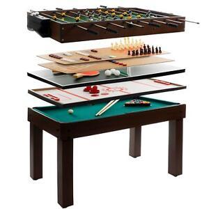 Multigame-Spieletisch-9-in-1-Kickertisch-Tischfussball-Billardtisch-Tischtennis