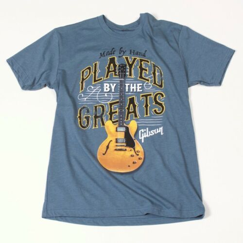 Gibson T-shirt Played By The Greats Indigo XL