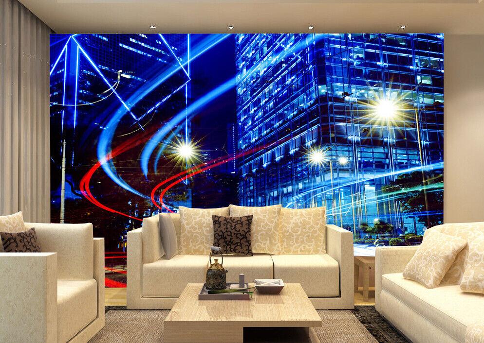 3D Mode bluee Stadt 534 Tapete Tapeten Mauer Foto Familie Tapete Wandgemälde