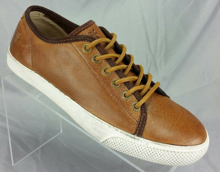 Frye Men's 7 Chambers Low 81520 Cognac Brown Leather Fashion Sneakers Shoes