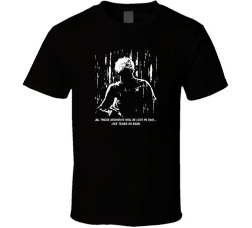 Blade Runner Tears in Rain logo shirt black white tshirt men/'s free shipping