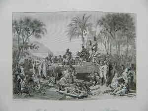 Grabado Halte EJÉRCITO Francesa Para Siena 1799 Tardieu Masson Girardet Gavard