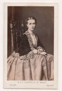 Vintage-CDV-Princess-Alexandra-of-Denmark-Queen-of-Great-Britain-W-H-Mason