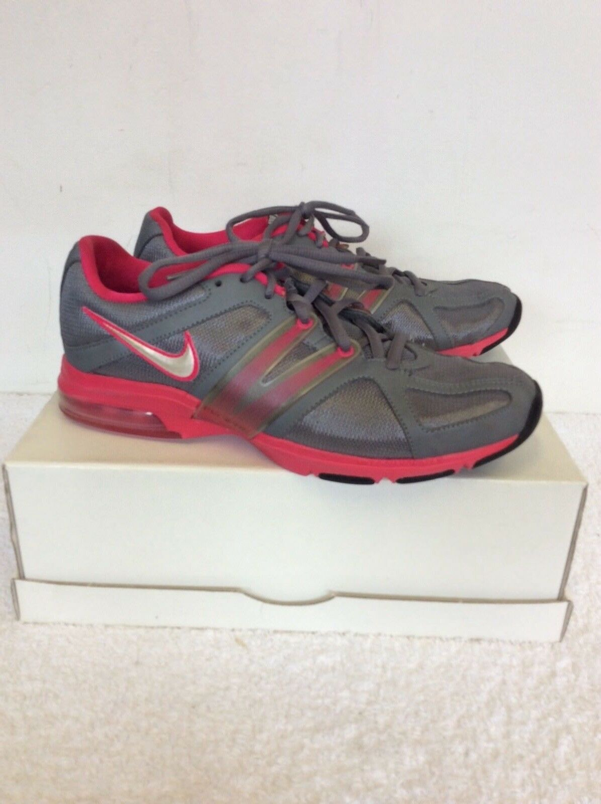 Nike Max Trainer ROSE Excel FLUO ROSE Trainer & GRIS Baskets Taille 5/38 ee4b80
