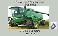 John Deere Cts Rice Combine Repair Operation And Tests Technical Manual Tm1543