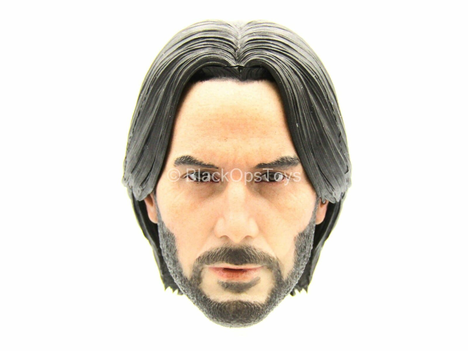 John Wick - Male Head Sculpt w Relaxed Hair - MINT IN BOX