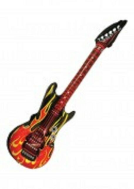 Inflatable Flame Guitar - 106cm - Fire Pinata Toy Loot/Party Bag Fillers