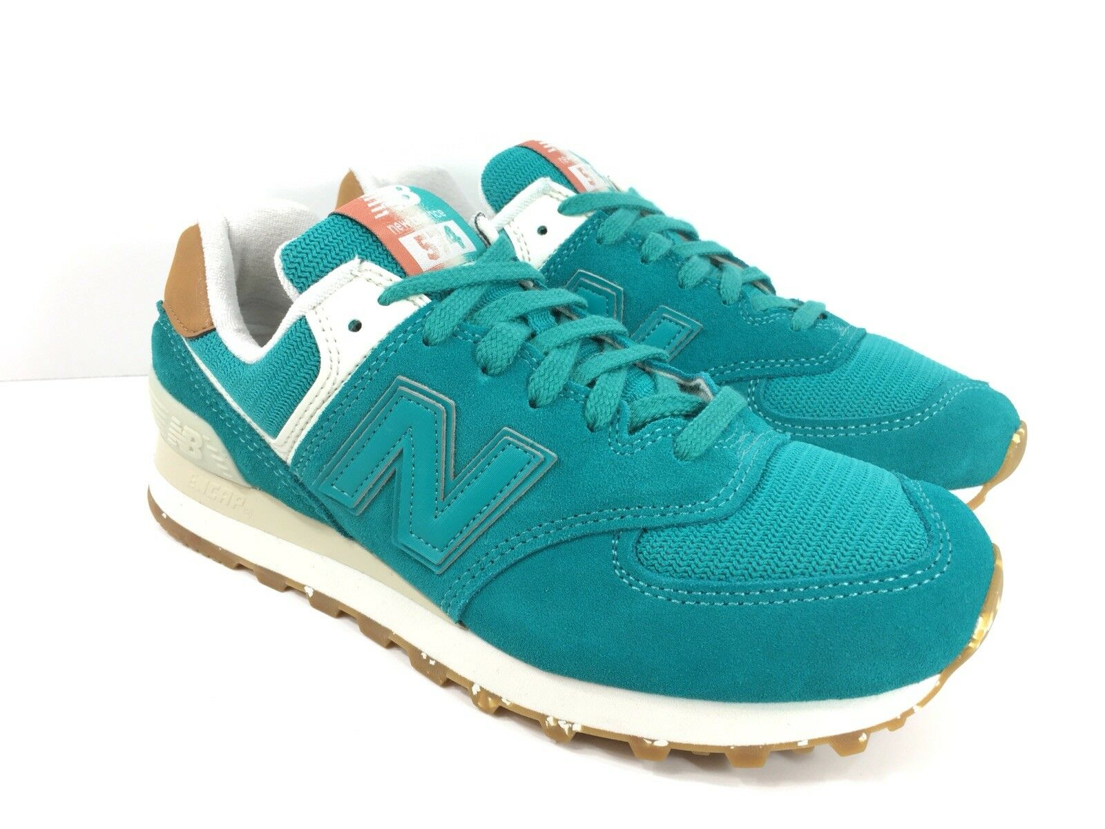 New Balance 574 Womens US Global Surf Running Training Athletic shoes Teal bluee