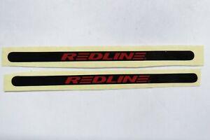 not flight black red old school bmx decals stickers redline proline crank