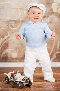 979c54a8b Image is loading Baby-Boy-Christening-Baptism-Smart-Suit-Outfit-Sweater-