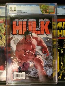 HULK-1-CGC-9-8-ACUNA-VARIANT-COVER-1ST-APP-RED-HULK-WHITE-PAGES-Hot-book