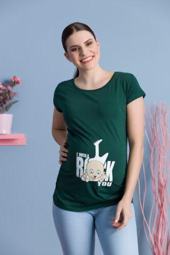 I will rock you gran tesoro circostanza Moda T-Shirt Motivo gravidanza brevemente MMC