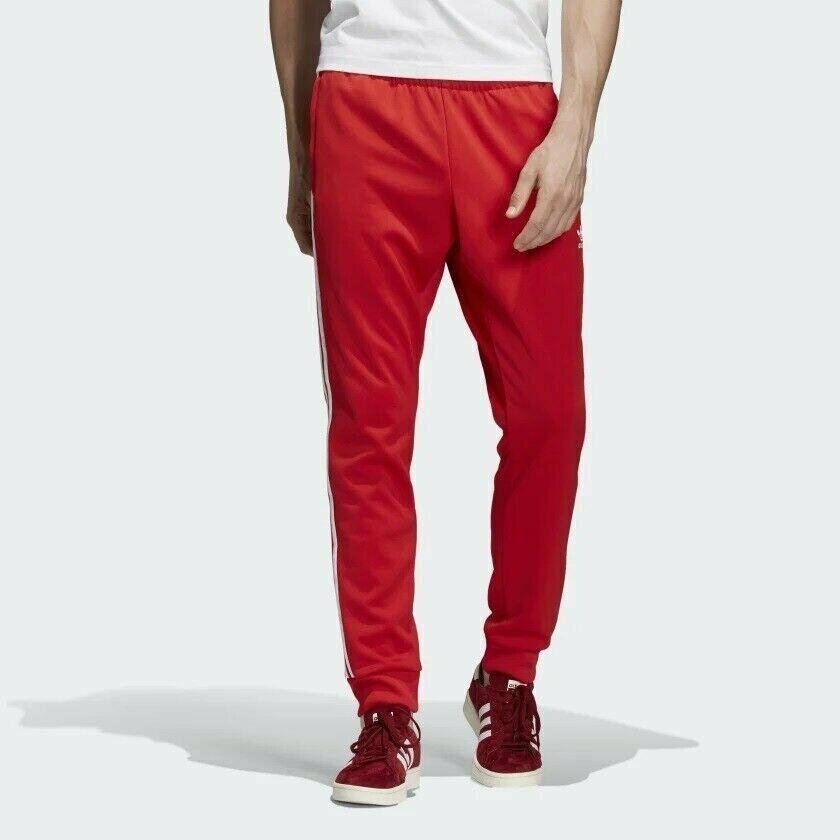 Para Hombre  Adidas Sst Pantalones de pista-Rojo-DH5837  calidad fantástica